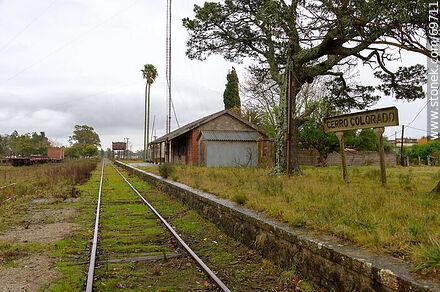 Cerro Colorado Train Station - Photos of Cerro Colorado, A. Gallinal - Department of Florida - URUGUAY. Image #69711