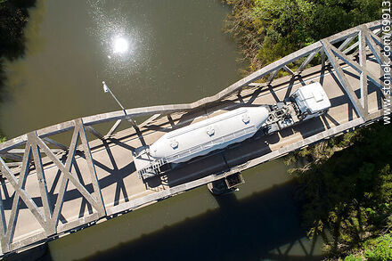 Aerial view of the route 7 bridge over the Santa Lucia River - Variety photos of State of Canelones - Department of Canelones - URUGUAY. Image #69913