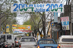 Photo #32636 - Streets of Tacuarembó City. Political advertisements for the national elections in 2009