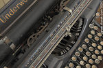 Photo #35203 - Industrial revolution museum in Fray Bentos. Ex meat processor plant office. Old typewriter.