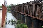 Photo #36281 - Railroad bridge over Cuareim or Quarai river.