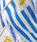 Photo #37666 - Uruguayan flags.