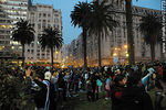 Photo #37773 - Uruguay - Ghana match wide screen transmission at Plaza Independencia to pass to semi finals