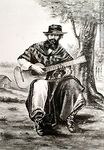 Photo #47946 - Gaucho playing guitar, 1889.