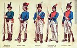 Foto #47931 - Military uniforms in South America. XIX century.