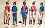 Foto #47930 - Military uniforms in South America. XIX century.