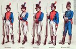 Foto #47929 - Military uniforms in South America. XIX century.