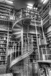 Foto #51216 - Library of IAVA. Spiral staircase.