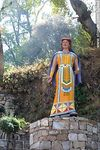 Photo #52449 - Colorful statue representing an Inca woman