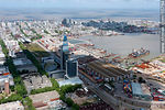 Photo #55764 - Antel complex, Aguada Park, Port of Montevideo and Old Town