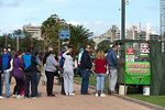 Photo #57722 - Line of people waiting for buying tortas fritas