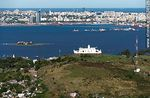 Foto #58126 - Aerial view of Cerro, its fortress, the bay and the city of Montevideo