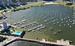 Photo #58350 - Aerial view of the Yacht Club facilities, pools and marinas