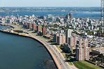 Foto #58454 - Aerial view of the south Rambla Rep. Argentina, Bay of Montevideo
