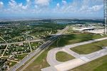 Photo #58903 - Aerial view of the Carrasco Airport runway , Route 101 and Route Interbalnearia, Gal. Seregni