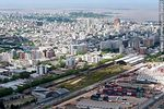 Foto #59091 - Aerial view of the current and former railway station in Montevideo