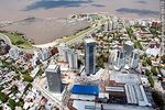 Foto #59170 - Aerial view of Montevideo Shopping, WTC towers, Rambla Armenia and Puerto del Buceo