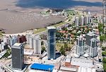 Foto #59171 - Aerial view of Montevideo Shopping Center and the WTC towers. Free Zone Buceo