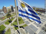 Photo #60650 - Uruguayan Flag from high in Tres Cruces