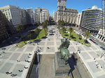 Foto #60659 - Aerial view of Independence Square. Monument to Artigas