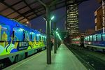 Photo #60787 - Central Railway Station, Swedish trains at night