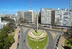 Foto #60958 - Aerial photo of the Obelisco a los Constituyentes de 1830. Bulevar Artigas, 18 de Julio and Dr. Luis Morquio avenues
