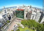 Photo #61313 - Aerial photo of Avenida 18 de Julio and Julio Herrera y Obes St. Rex Building, Santander and Republica banks