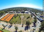 Photo #61831 - Aerial photo of the tennis courts at the Carrasco Lawn