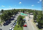 Photo #63413 - Aerial photo. Bus Terminal. Parking for cars and buses exit