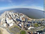 Photo #64558 - Aerial photo of Playa Mansa, bus terminal buildings and Punta del Este, Santos Dumont and promenade towers Williman