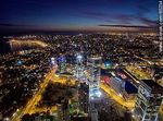 Foto #65234 - Nocturnal aerial photo of the Rambla Armenia and World Trade Center Montevideo