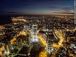 Foto #65233 - Nocturnal aerial photo of the Rambla Armenia and World Trade Center Montevideo