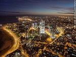 Foto #65232 - Nocturnal aerial photo of the Rambla Armenia and World Trade Center Montevideo