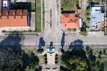 Foto #65861 - Aerial photo of Avenida 18 de Julio, Fray Bentos hotel and monument to the mayor  Ruggia