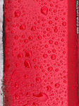 Photo #67084 - Water drops on a bright red background