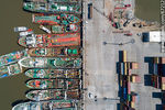 Photo #67212 - Aerial zenithal photo of ships moored from stern to pier