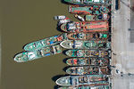 Photo #67221 - Aerial zenithal photo of ships moored from stern to pier