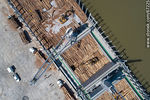 Photo #67225 - Aerial photo of pier C and wood cargo