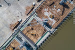 Photo #67227 - Aerial photo of pier C and wood cargo