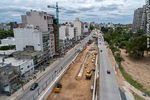 Photo #67240 - Aerial view of the construction of the tunnel on Italia Avenue under Ricaldoni and Centenario Avenues