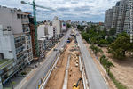 Photo #67241 - Aerial view of the construction of the tunnel on Italia Avenue under Ricaldoni and Centenario Avenues