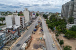 Photo #67242 - Aerial view of the construction of the tunnel on Italia Avenue under Ricaldoni and Centenario Avenues