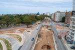 Photo #67247 - Aerial view of the construction of the tunnel on Italia Avenue under Ricaldoni and Centenario Avenues