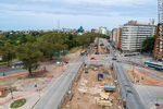 Photo #67248 - Aerial view of the construction of the tunnel on Italia Avenue under Ricaldoni and Centenario Avenues