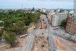 Photo #67251 - Aerial view of the construction of the tunnel on Italia Avenue under Ricaldoni and Centenario Avenues