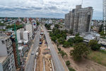 Photo #67253 - Aerial view of the construction of the tunnel on Italia Avenue under Ricaldoni and Centenario Avenues