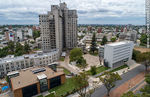 Photo #67260 - Aerial view of Avenida Ricaldoni, Health Area, medical schools, CUDIM