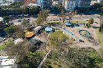 Photo #67827 - Aerial view of the play area based on electrical energy closed by covid pandemic