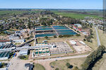 Photo #68314 - Aerial view of the town and OSE's water treatment plant