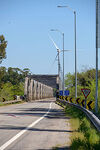 Photo #69923 - Bridge on Route 7 over the Santa Lucia River and wind energy mills